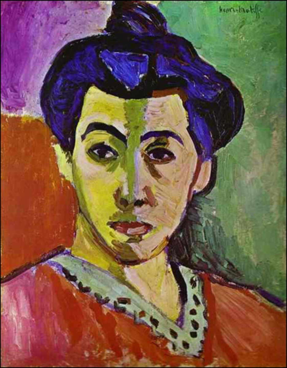 """The Green Stripe"" after Matisse (This is a portrait of Matisse's wife)"