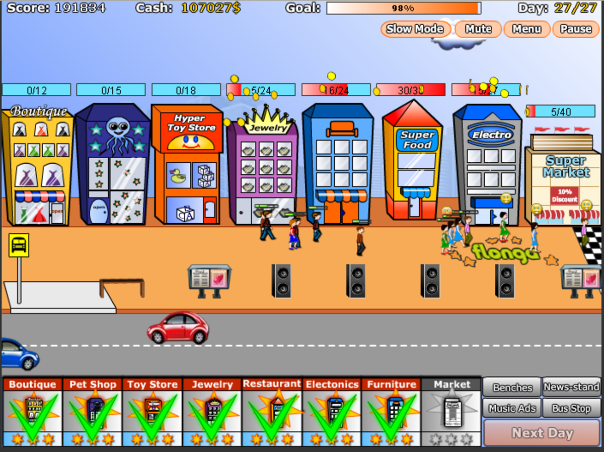 Shopping Street Strategy Level 13