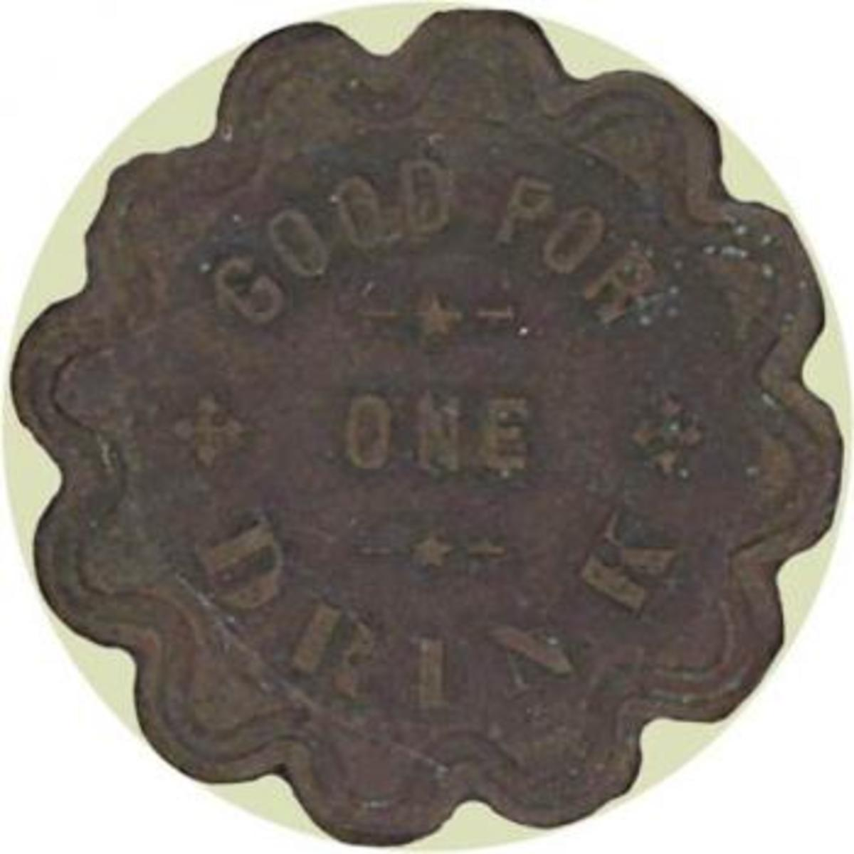 This token is also from a saloon in Congress, Arizona. Image copyright Holabird-Kagin Americana, used with permission.