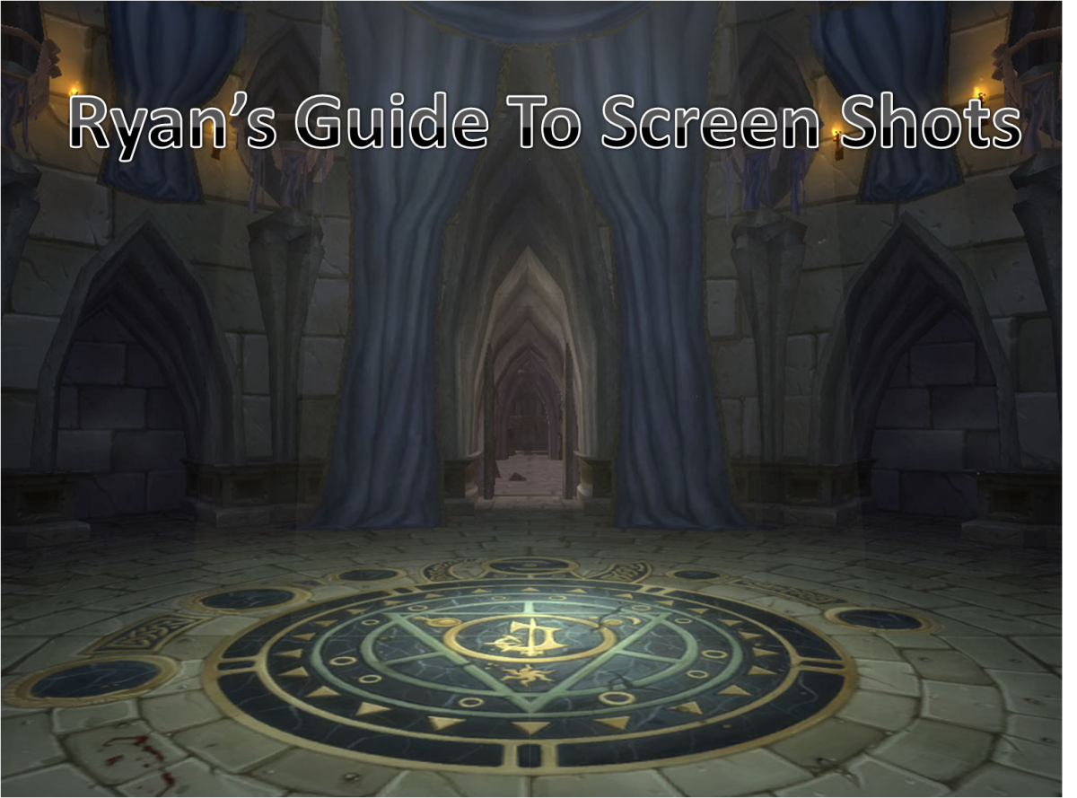 World of Warcraft: How to take screenshots / pictures in wow