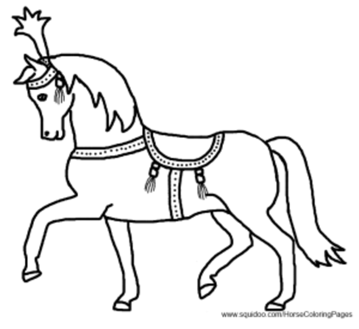 \circus pony coloring pages