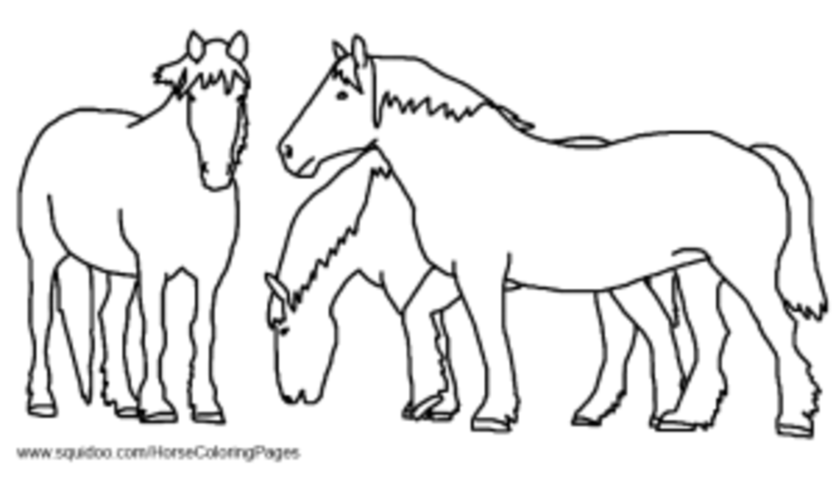 Farm Horse Coloring Pages