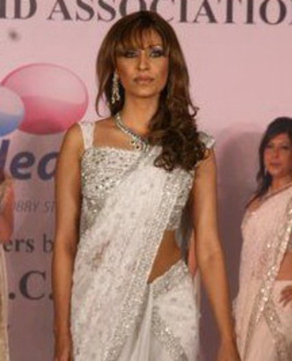 Sleeve less saree blouse design