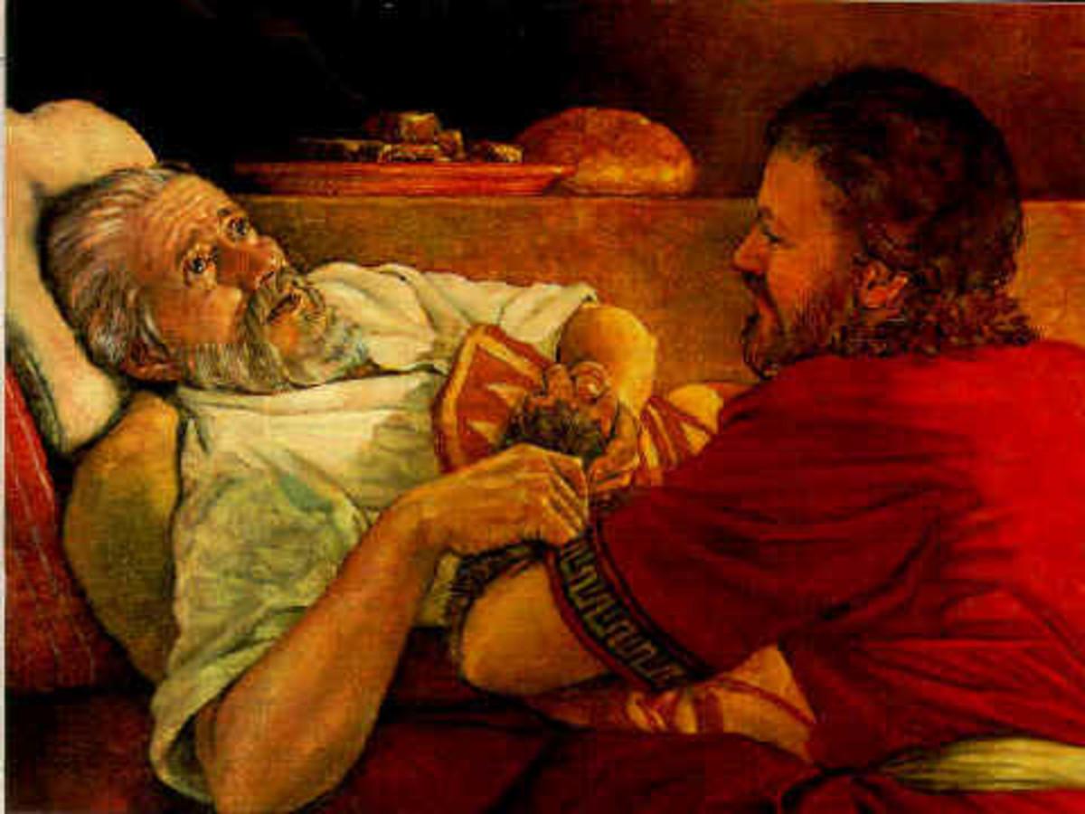 Jacob lies to Issac.