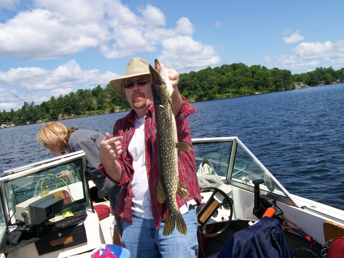 Caught: one nasty pike.
