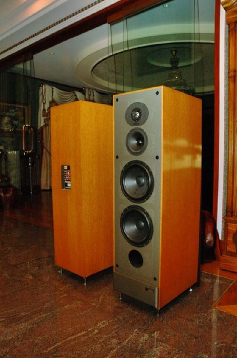 Paradigm Studio Monitors in light veneer