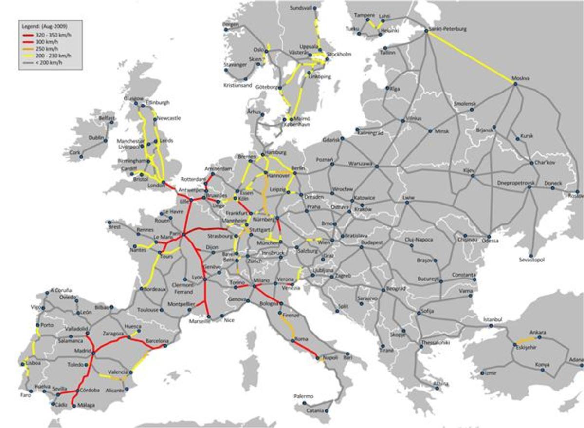 European rail lines