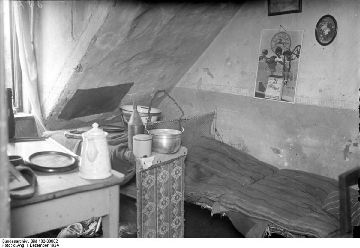 Here is a photo of Fritz Haarmann's Bedroom