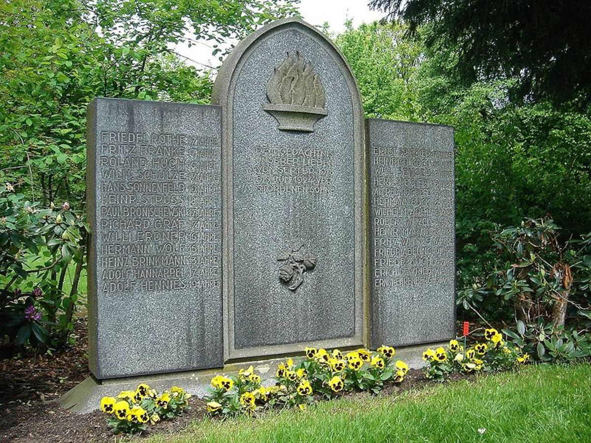 Here is the memorial to the victims of the Hanover Vampire , Fritz Haaramann.