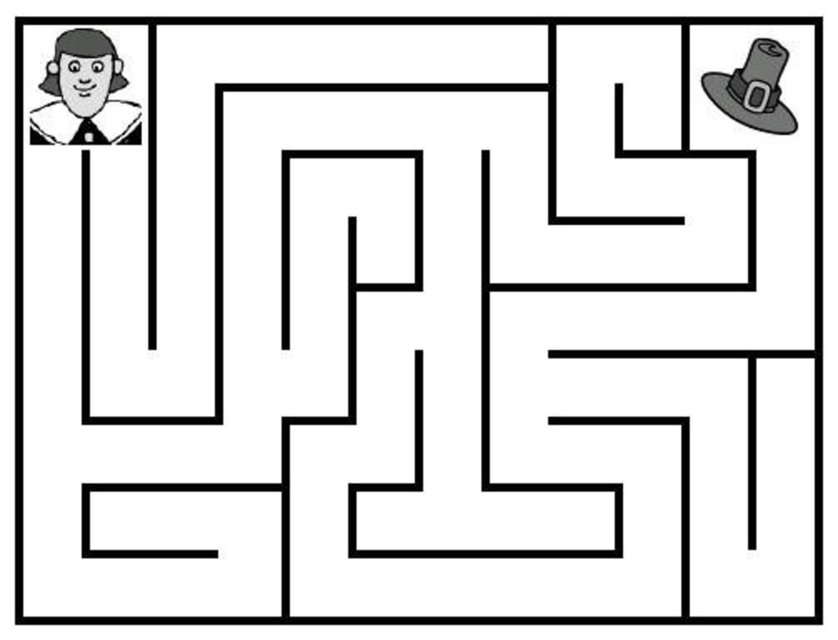 Free printable Thanksgiving Mazes for kids