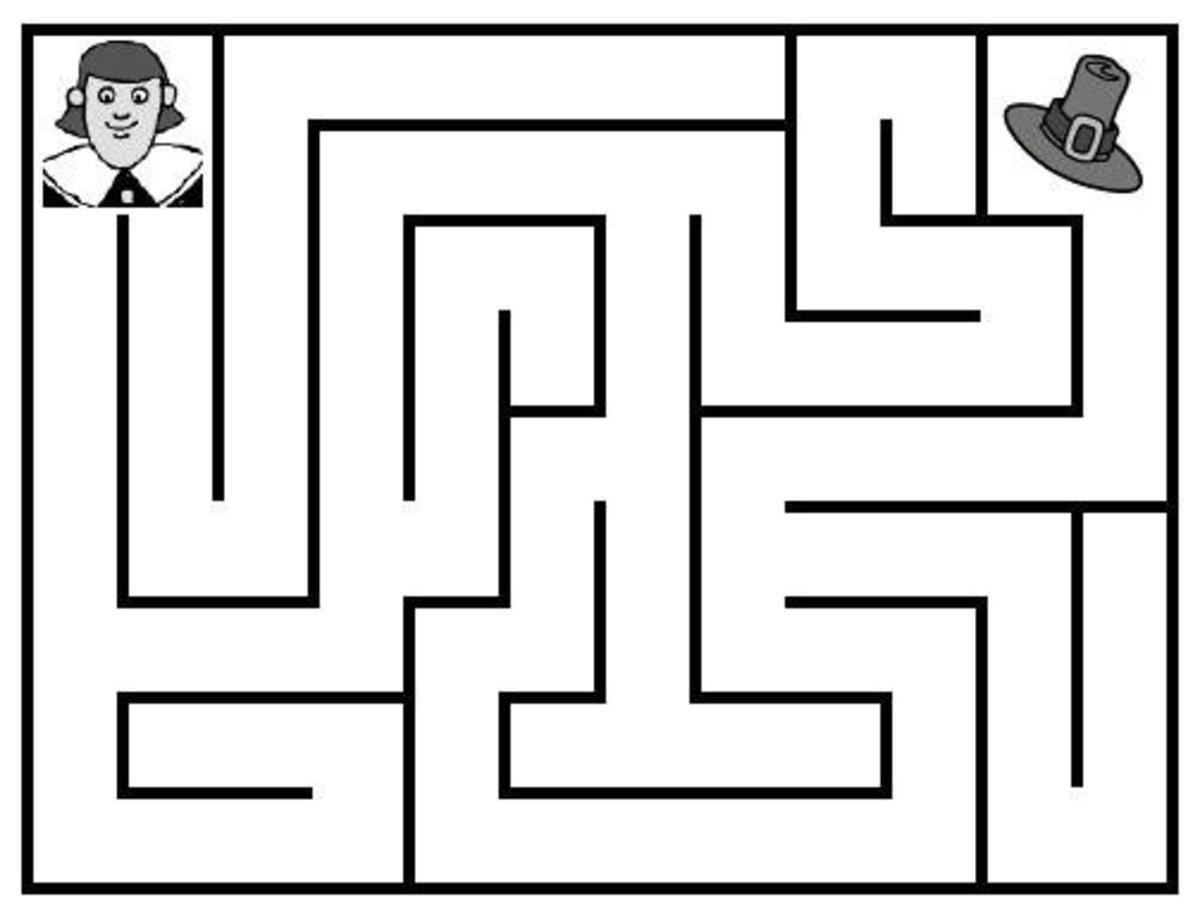 Free printable thanksgiving mazes for kids
