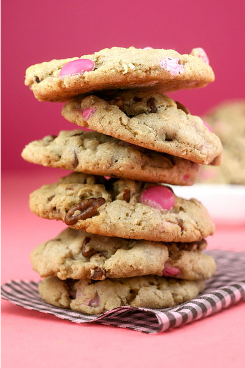 More Pink M&M Cookies