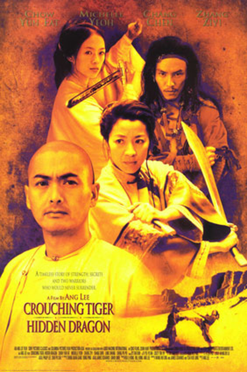Crouching Tiger, Hidden Dragon  where Michelle Yeoh as Yu Shu Lien and   Zhang Ziyi as Jen Yu