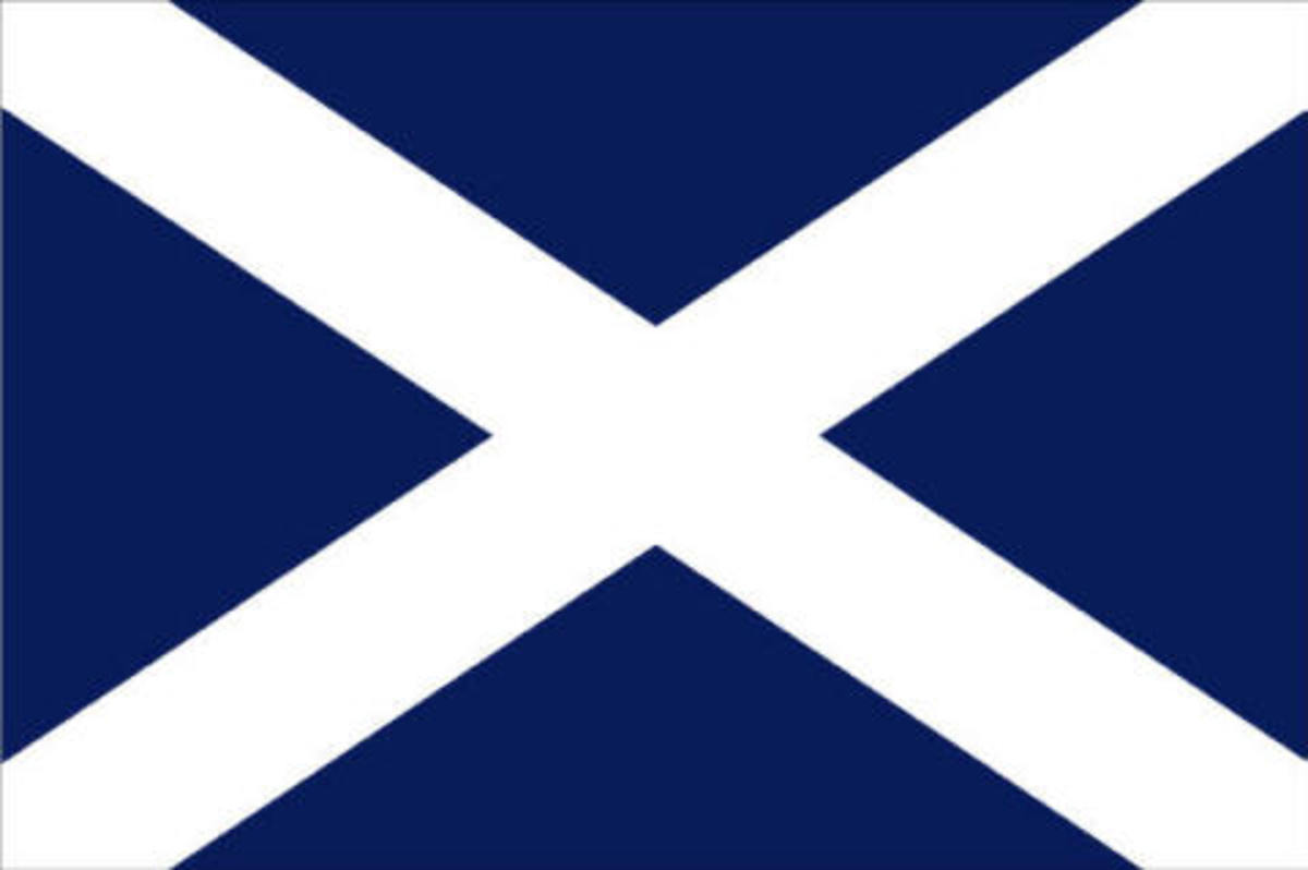 dark blue flag with white cross