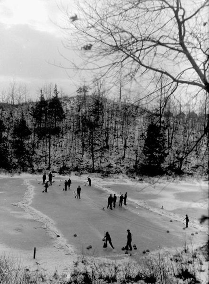 High Park Curling Club in 1914. Toronto, Canada.