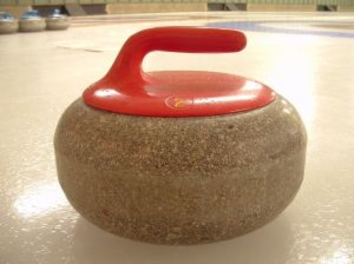 The curling stone.