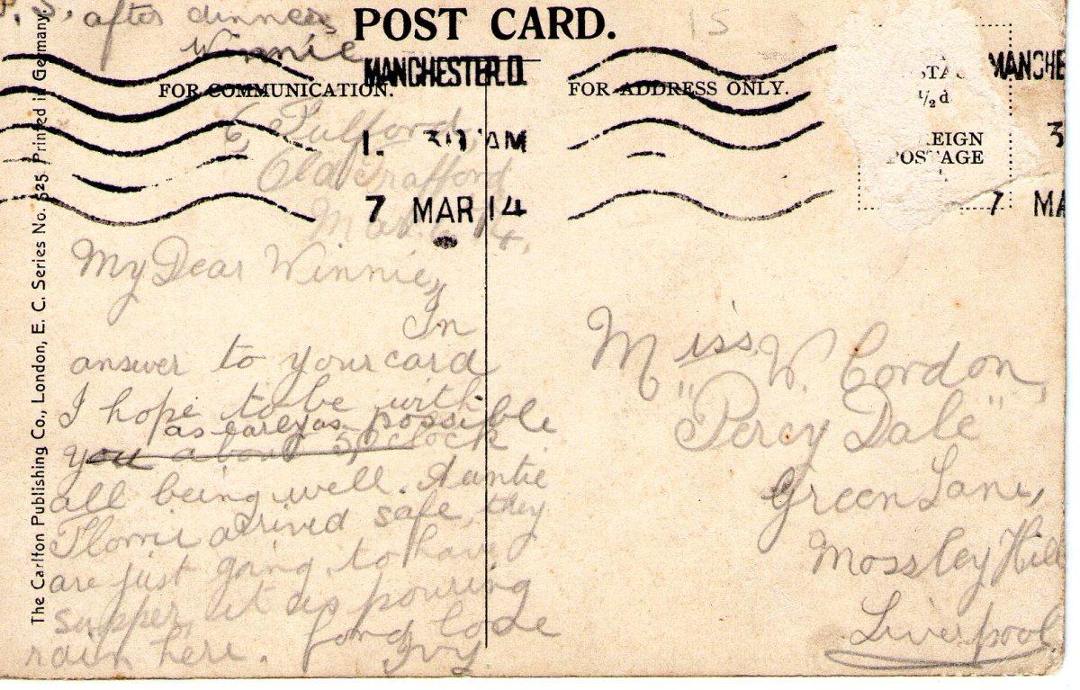 Postcard 1914 1 Reverse