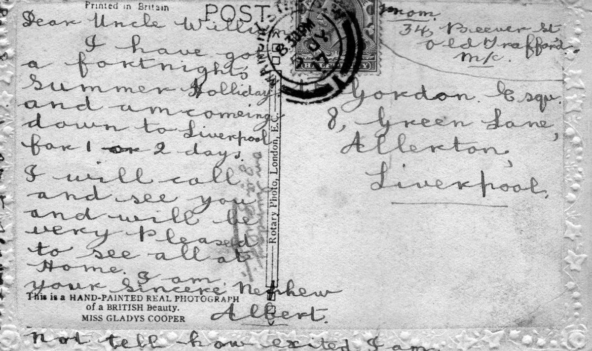 Postcard 1917 1 Reverse
