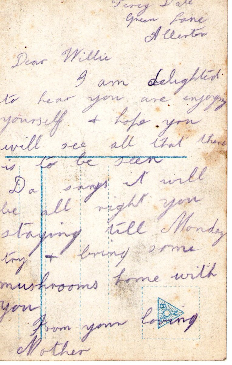 Postcard 1911 7 Reverse