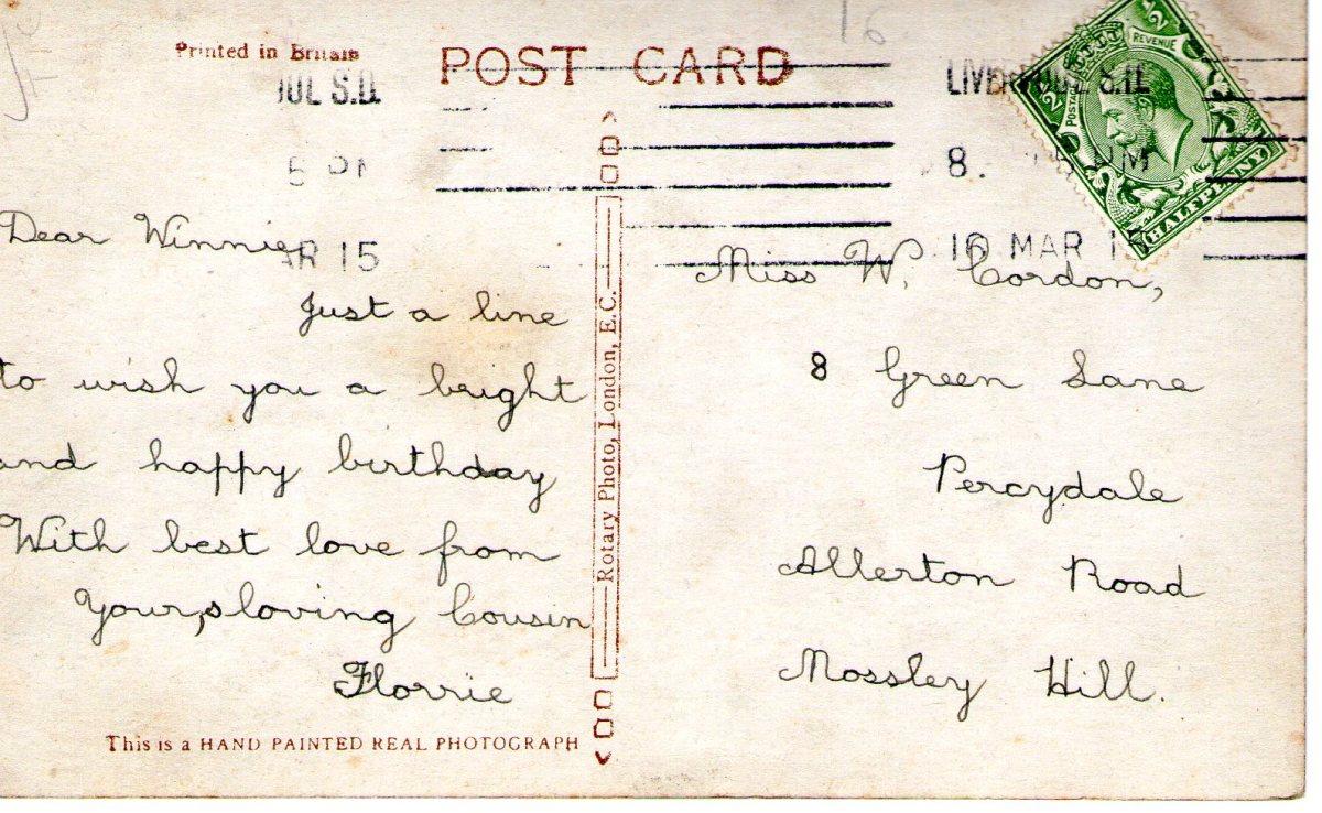 Postcard 1915 1 Reverse