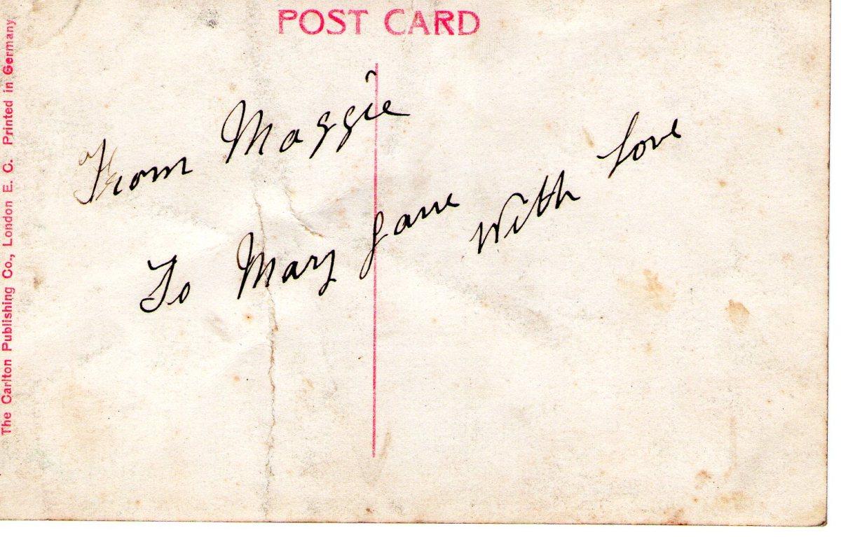 Postcard 1911 9 Reverse