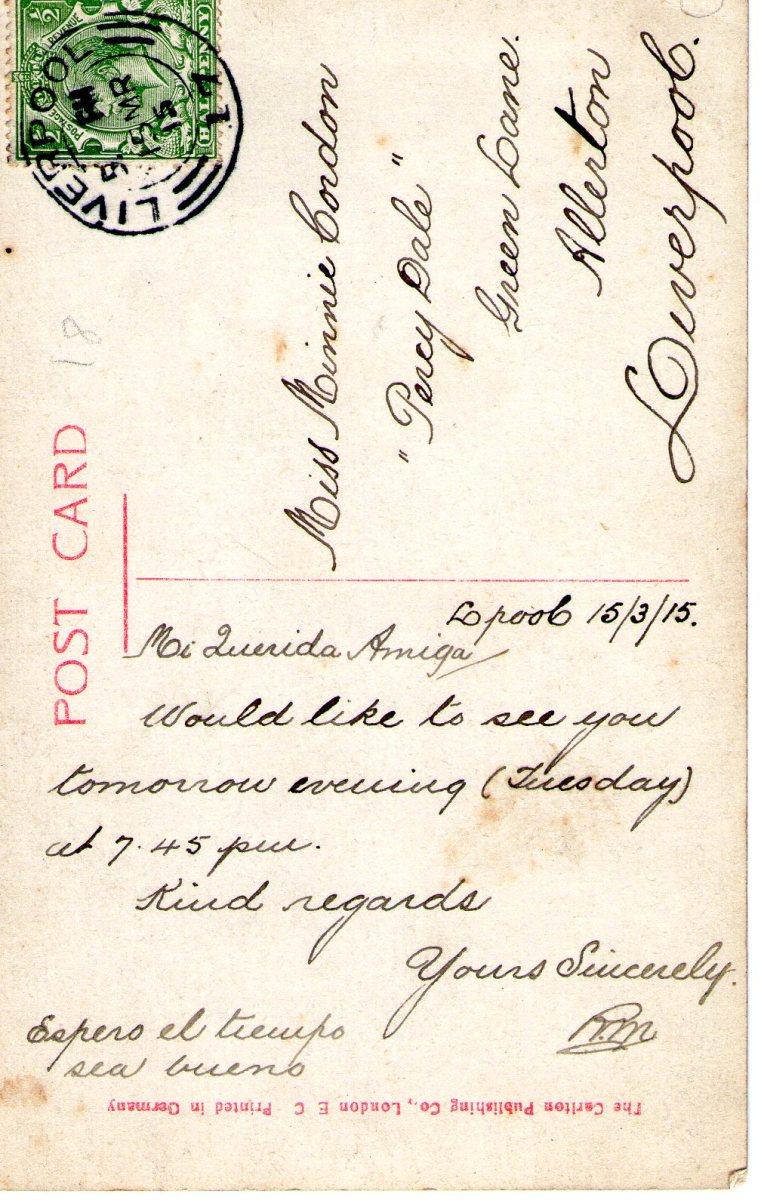 Postcard 1915 3 Reverse