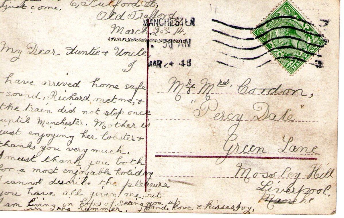 Postcard 1914 3 Reverse