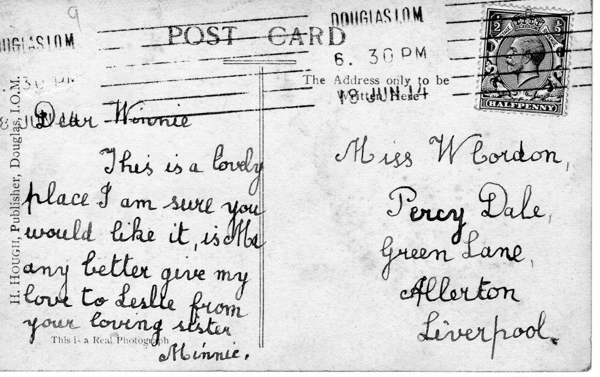 Postcard 1914 7 Reverse