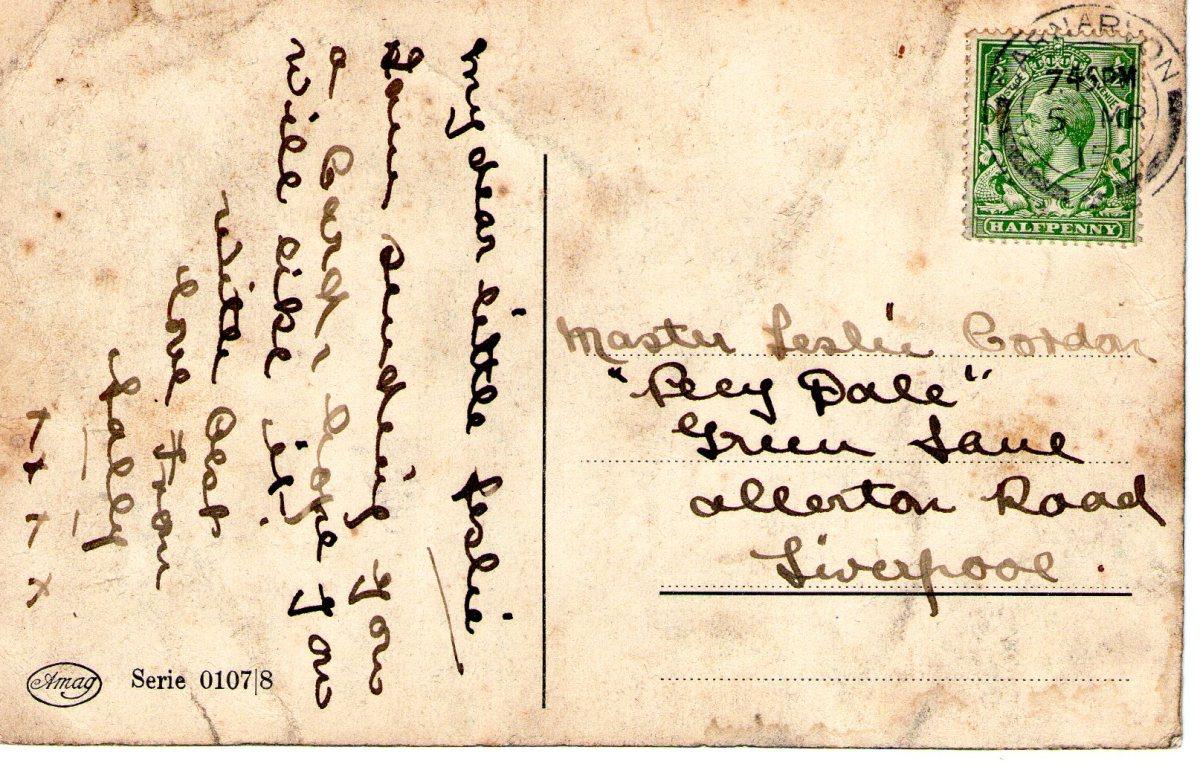 Postcard 1915 13 Reverse