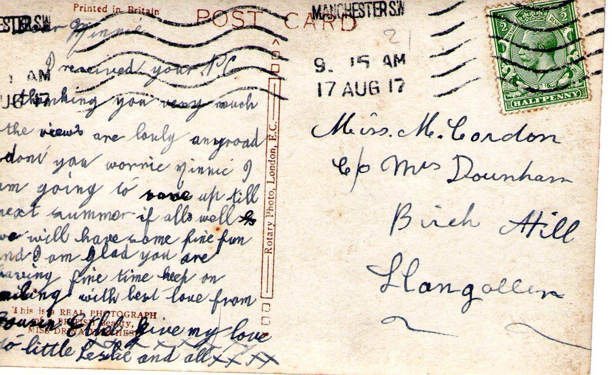 Postcard 1917 6 Reverse