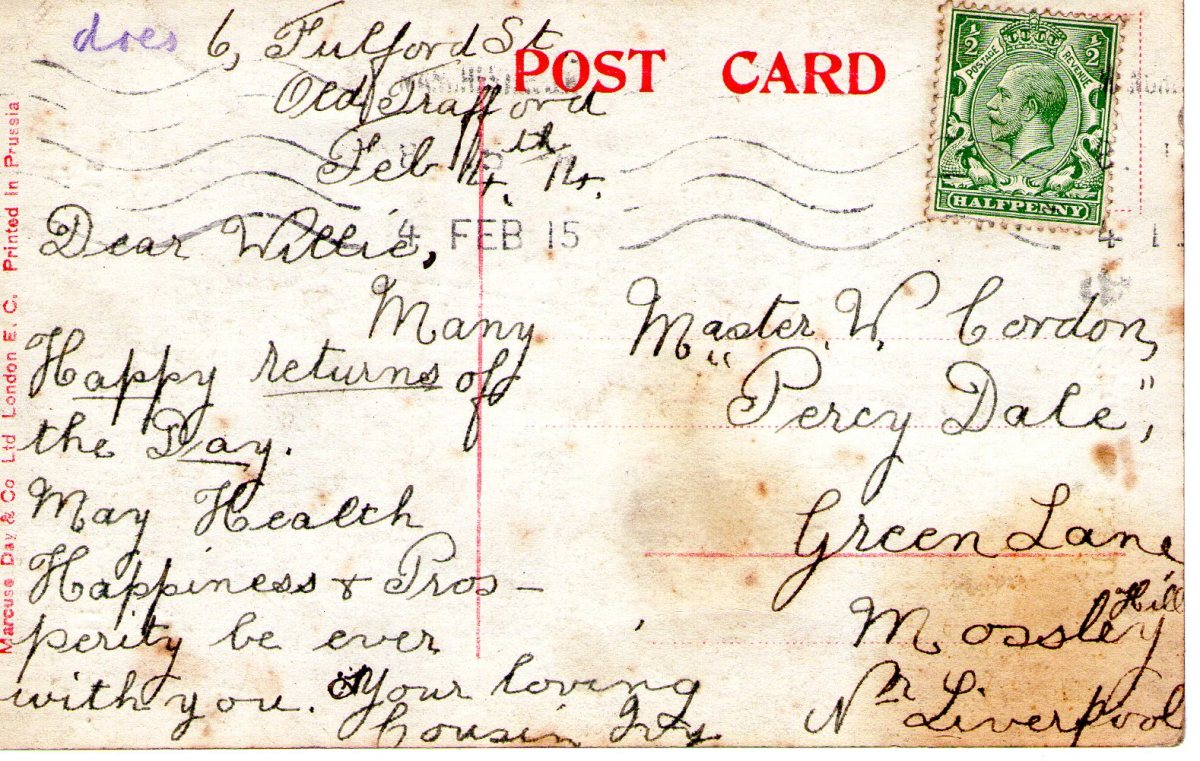 Postcard 1915 10 Reverse