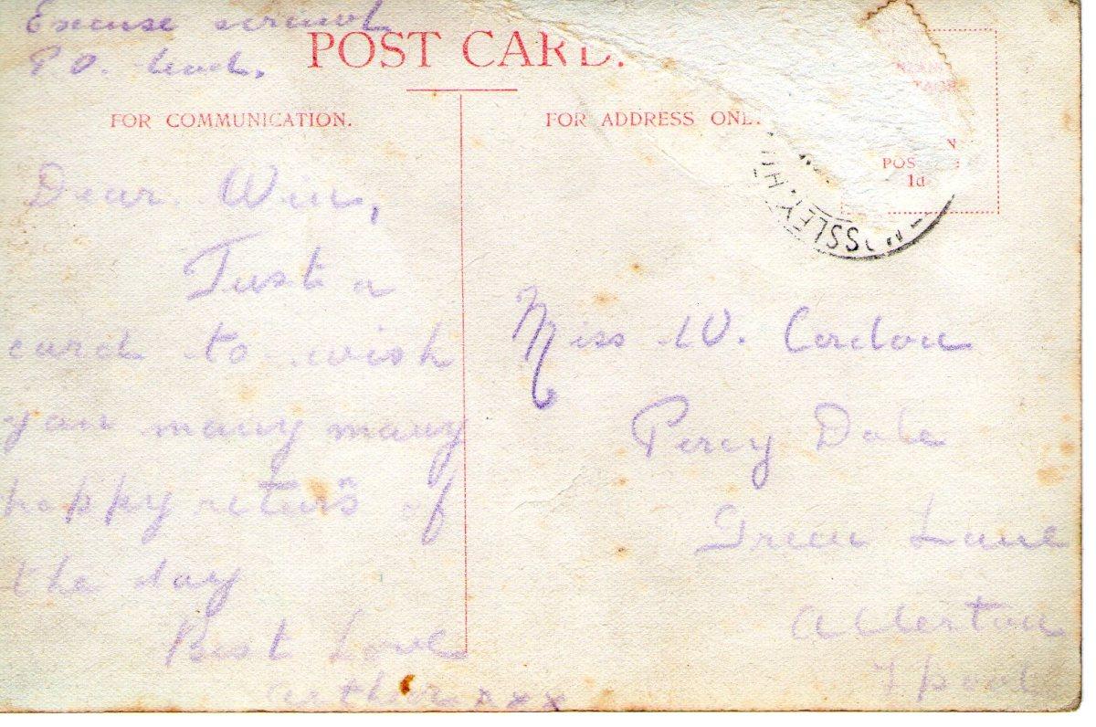 Postcard 1911 10 Reverse