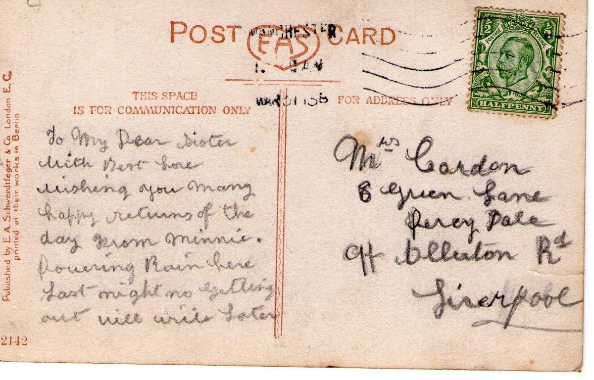 Postcard 1915 5 Reverse