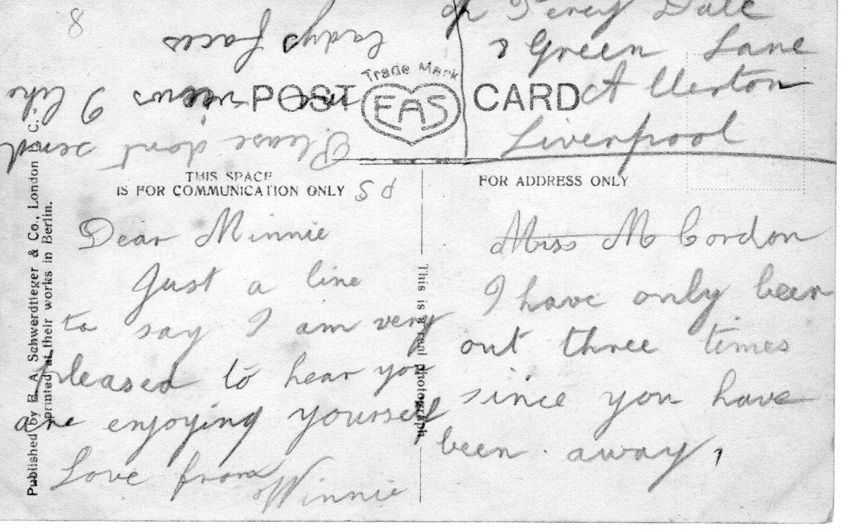 Postcard 1911 8 Reverse