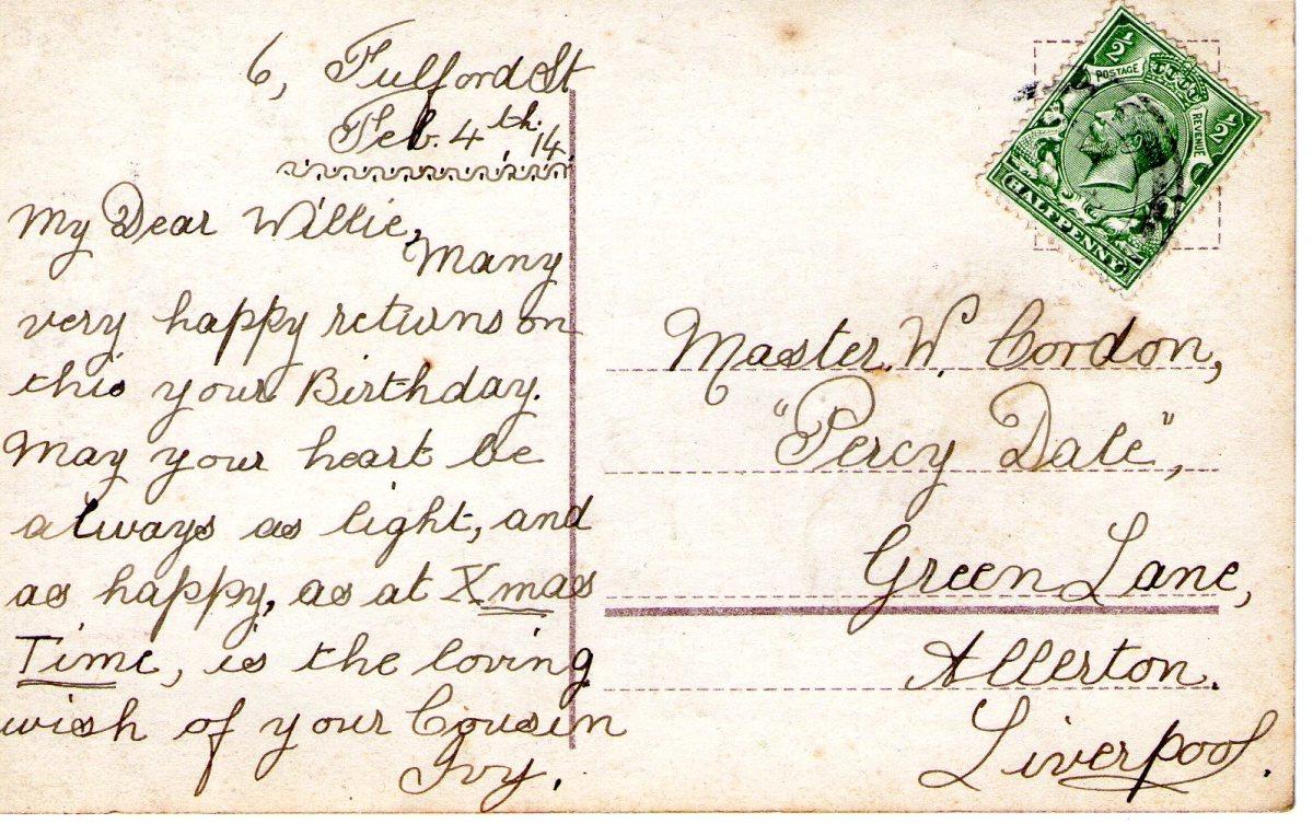 Postcard 1914 4 Reverse