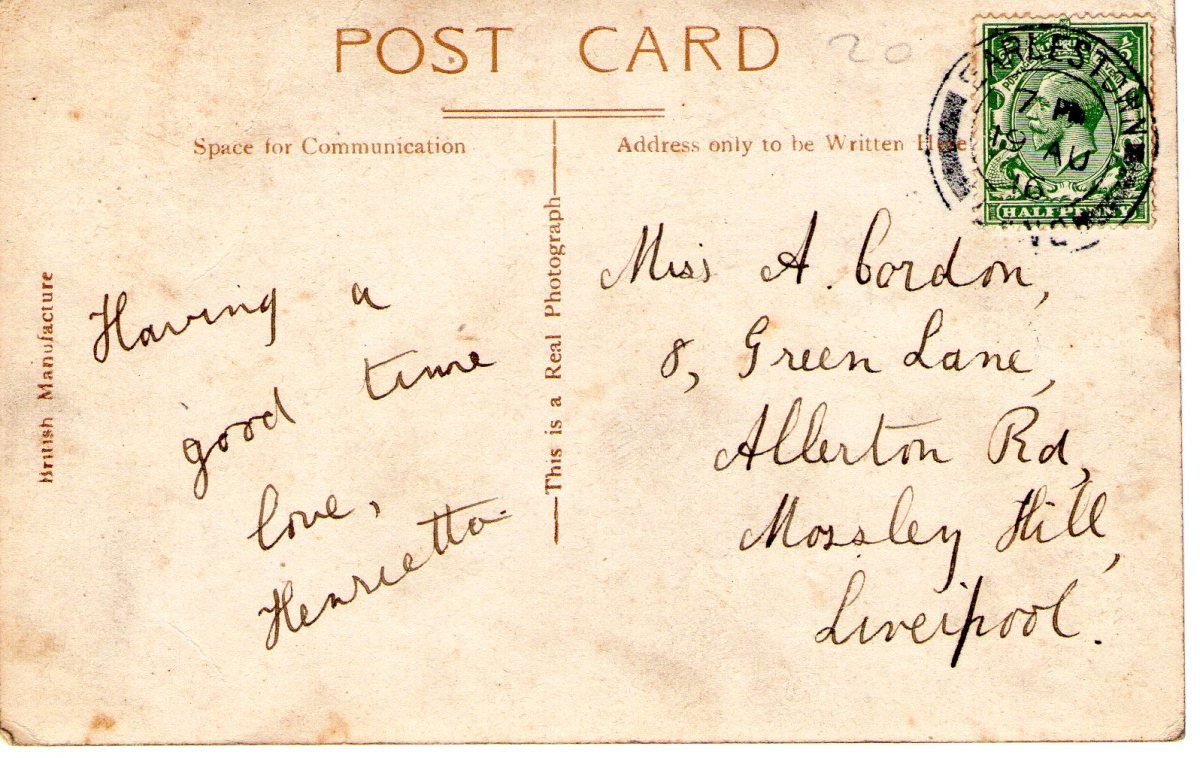 Postcard 1916 2 Reverse