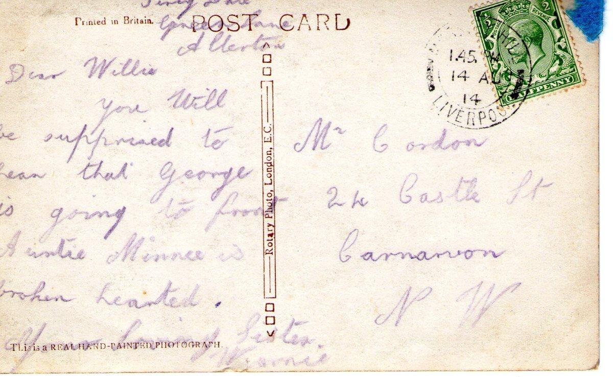 Postcard 1914 10 Reverse