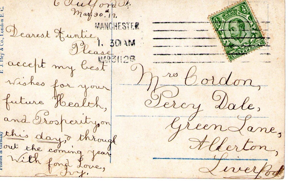 Postcard 1912 3 Reverse