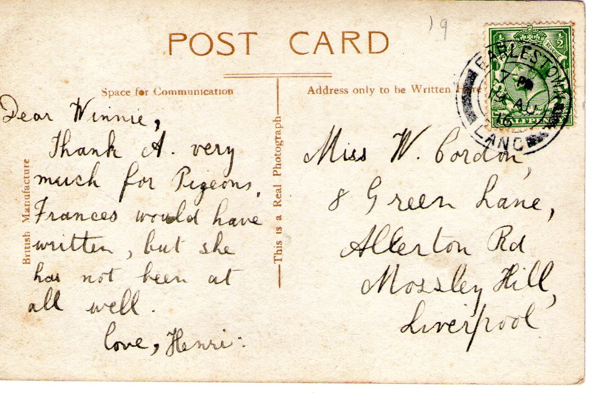 Postcard 1916 1 Reverse