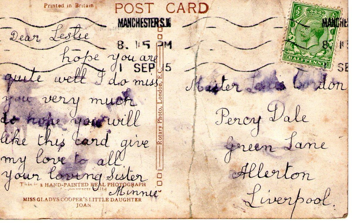 Postcard 1915 9 Reverse