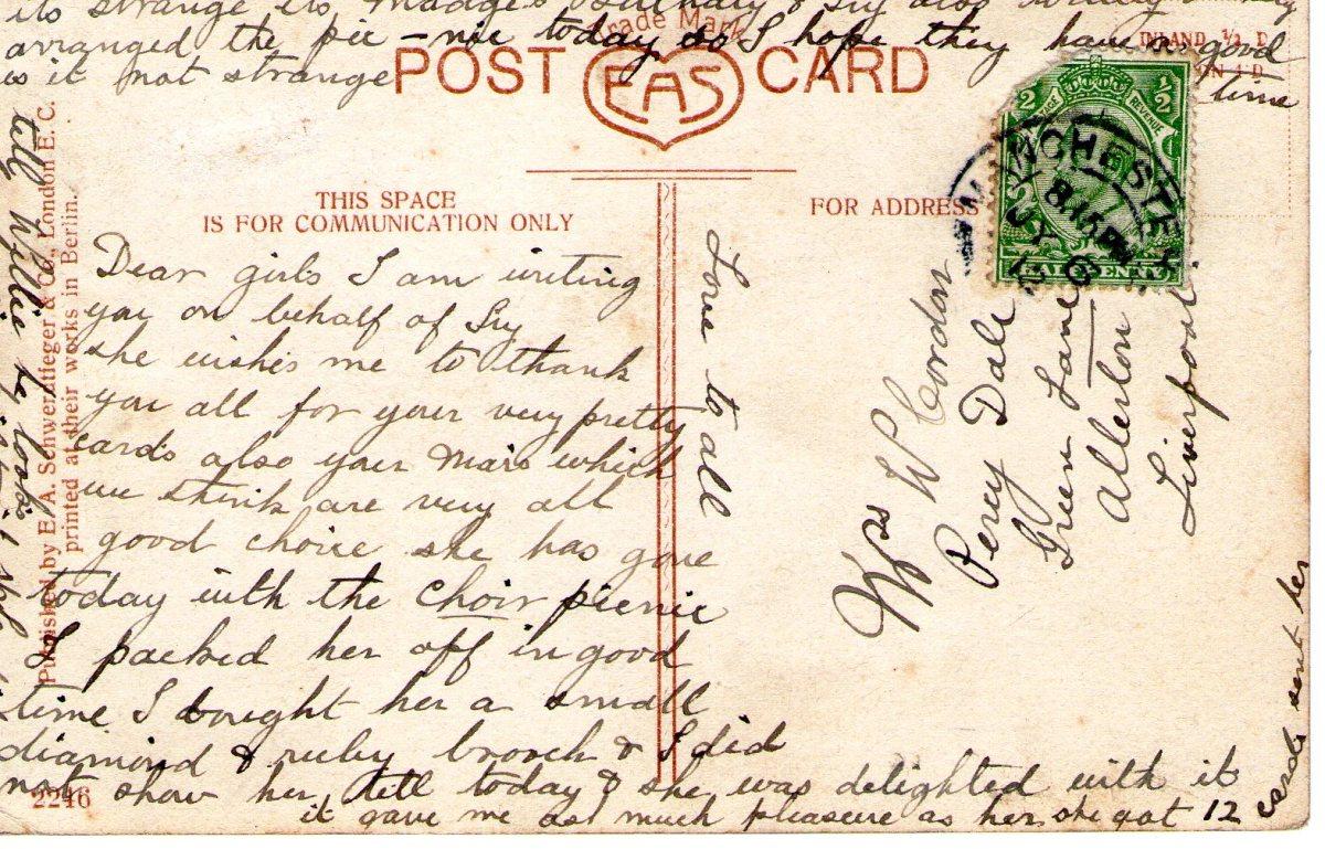 Postcard 1915 11 Reverse