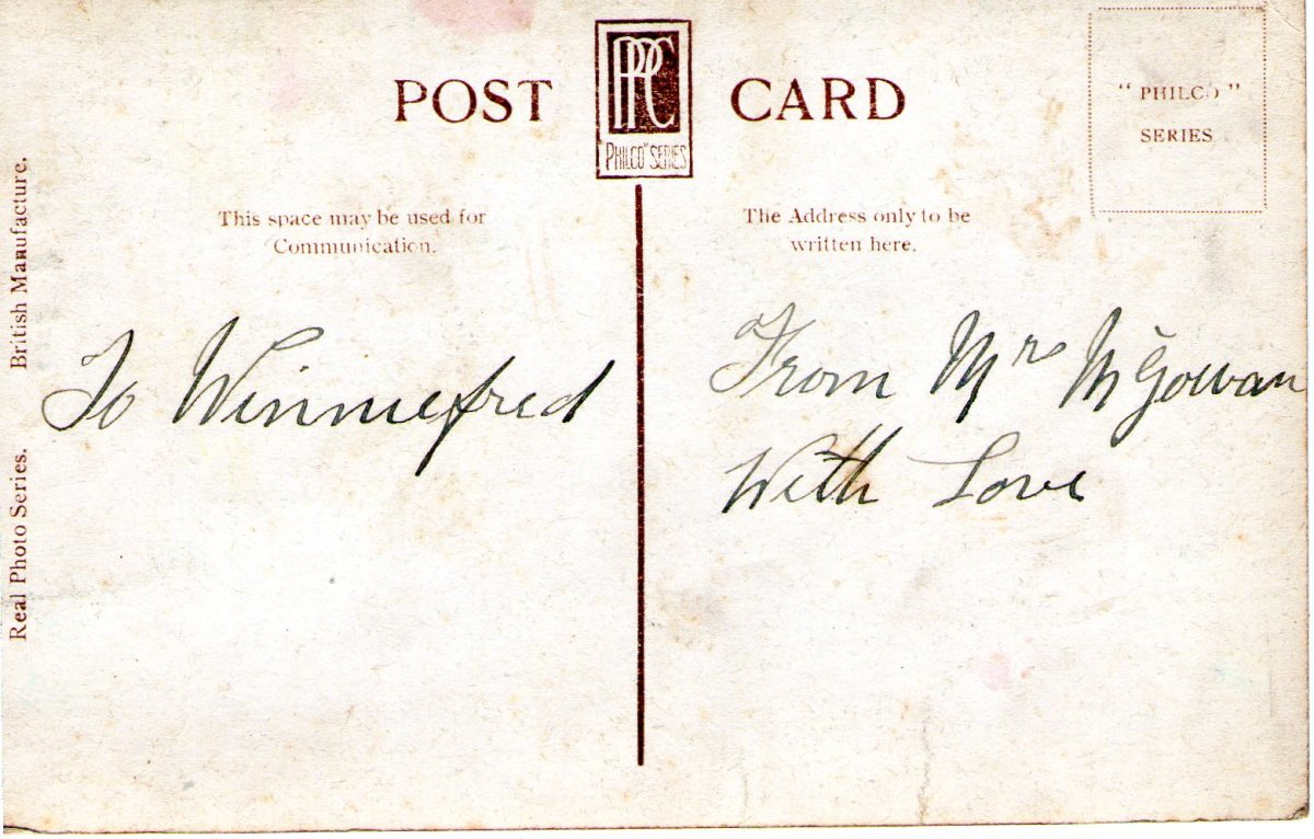 Postcard 1915 15 Reverse