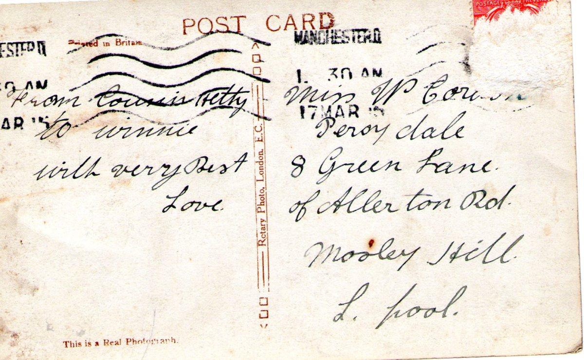 Postcard 1915 12 Reverse