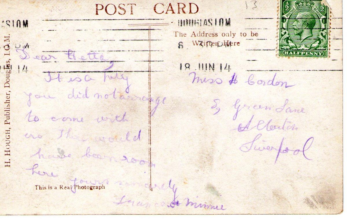 Postcard 1914 11 Reverse