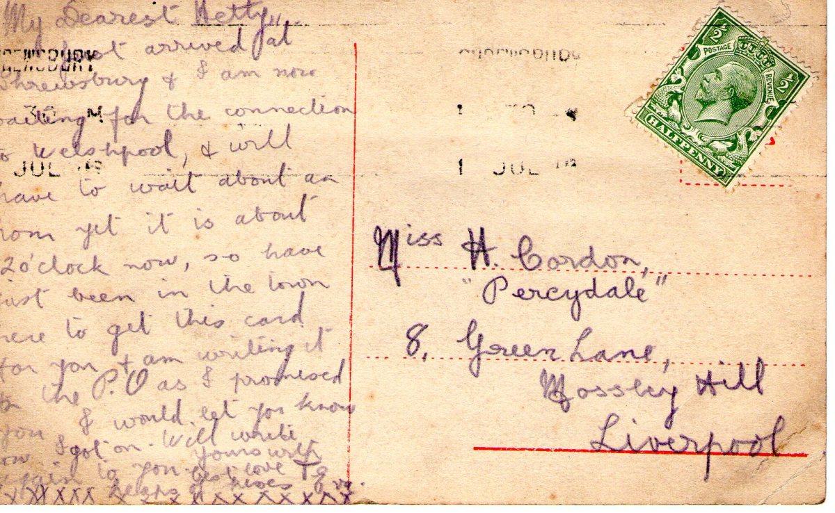 Postcard 1911 3 Reverse