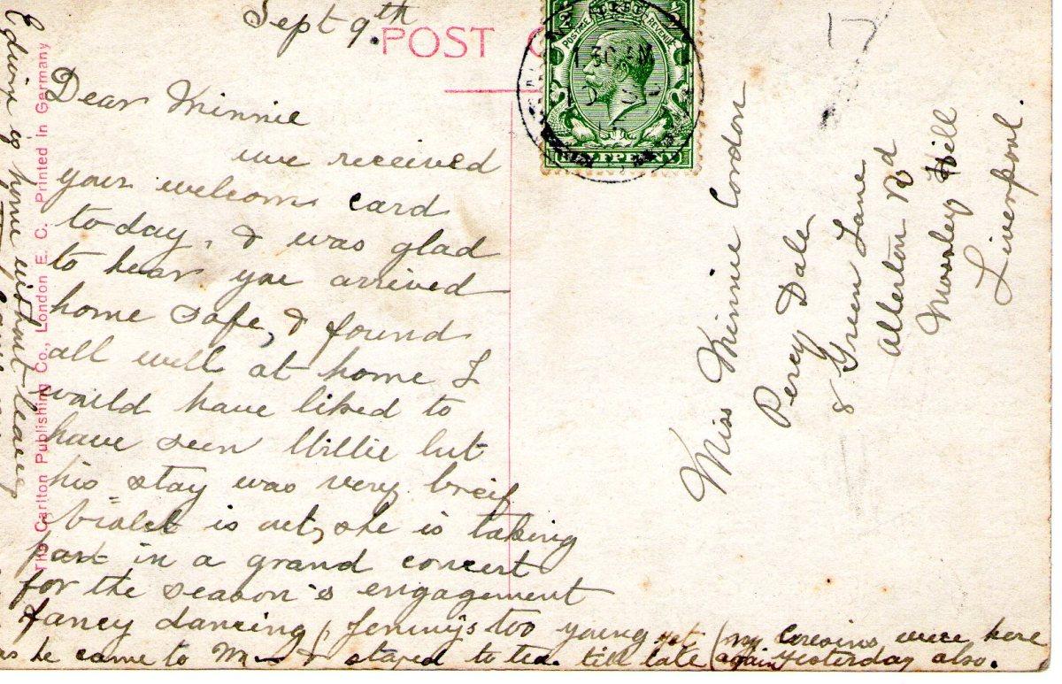 Postcard 1915 2 Reverse
