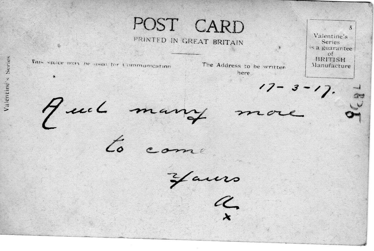 Postcard 1917 4 Reverse