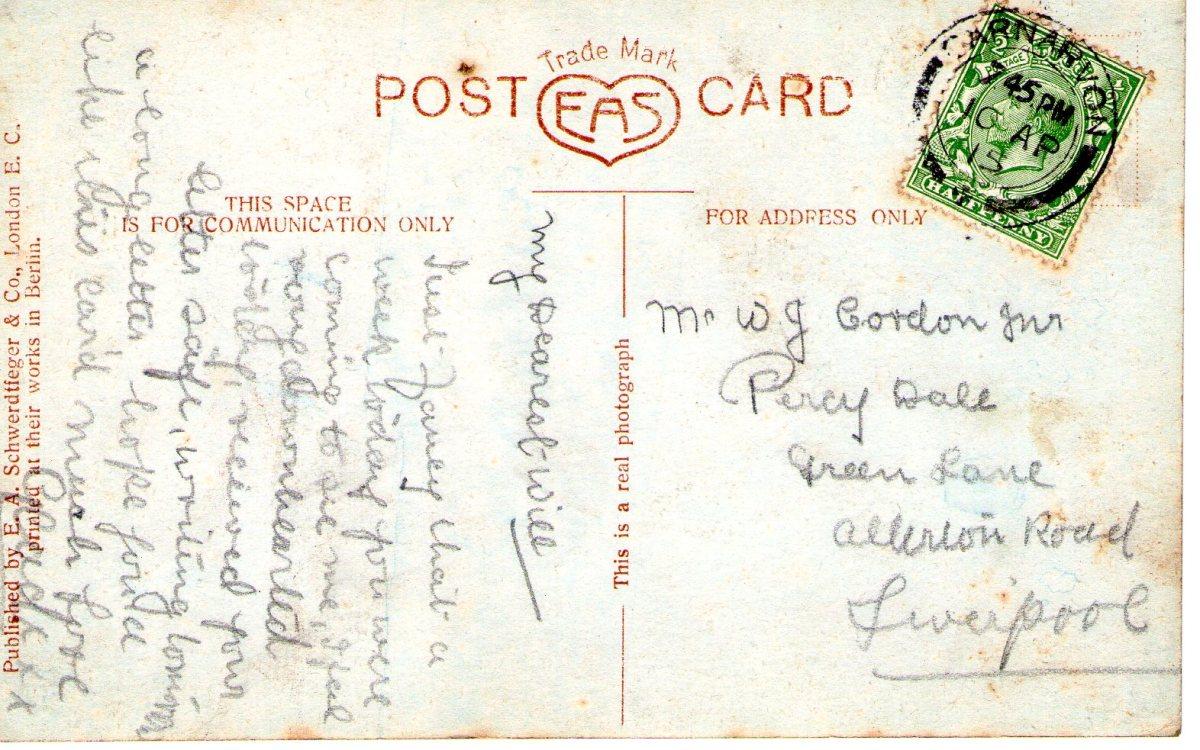 Postcard 1915 6 Reverse