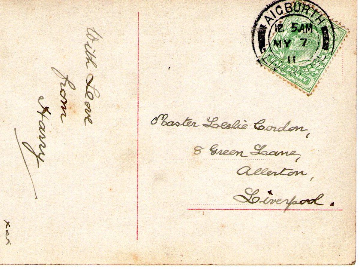 Postcard 1911 11 Reverse