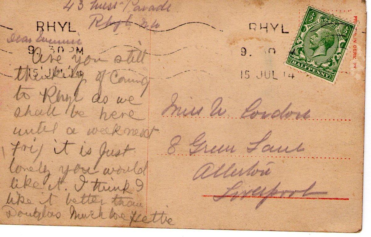 Postcard 1914 6 Reverse